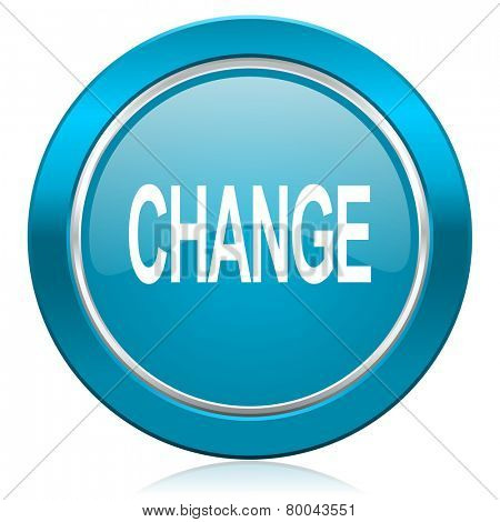 change blue icon