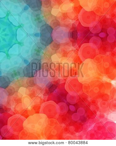 Retro pattern made of hexagonal shapes. Mosaic background. Vecto