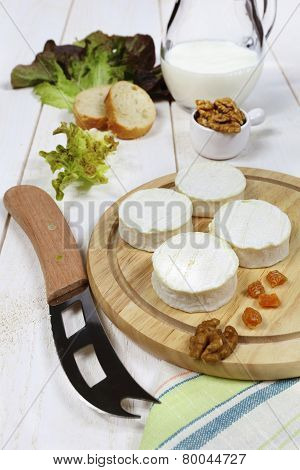 Soft French Goat Cheese, Milk And Walnuts