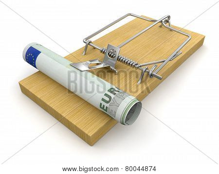 Mousetrap and Euro (clipping path included)