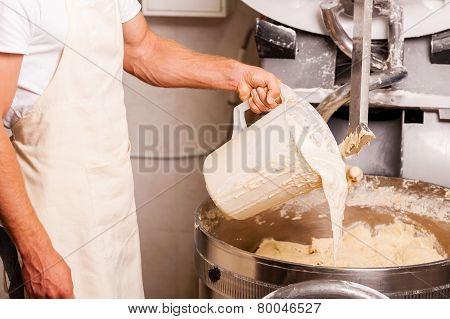 Preparing Dough.