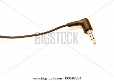 Mini-jack Plug Sound For Headphones Isolated On The White Background