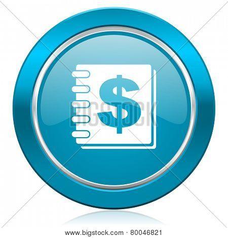 money blue icon