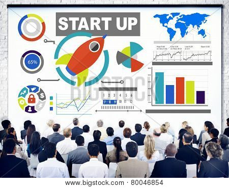 Corporate Business People Seminar Start Up Conference Concept