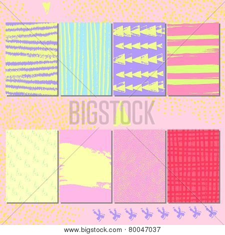 Vector set of creative cards.