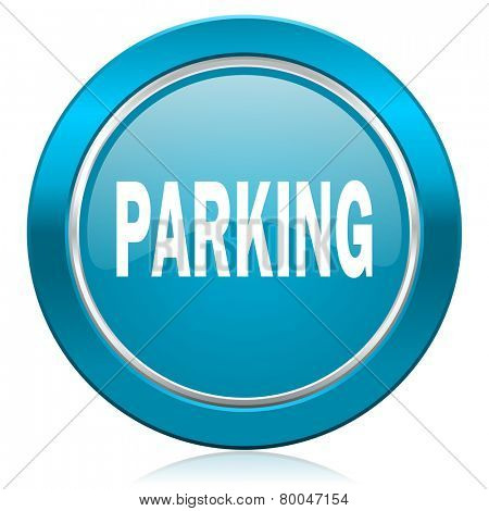 parking blue icon