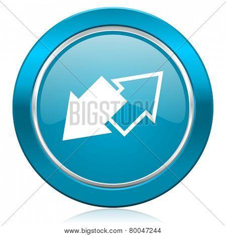 exchange blue icon