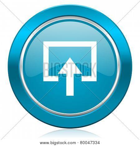 enter blue icon