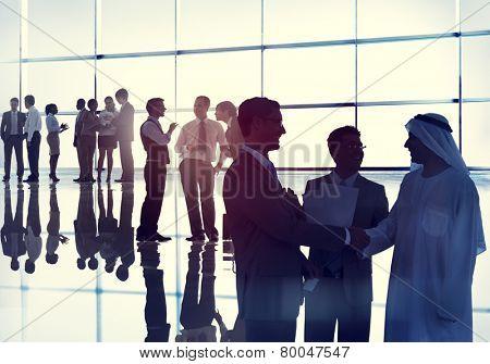 Handshake Business People Team Teamwork Meeting Conference Concept