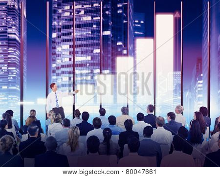 Business People Growth Seminar Conference Meeting Training Concept
