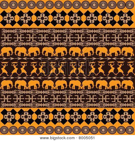 African Texture With Traditional Ornaments
