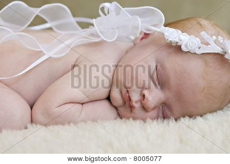 Angelic Sleeping Baby Closeup