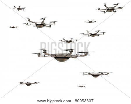 3d image of futuristic delivery drone