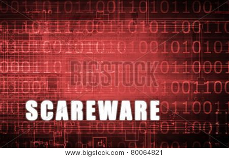 Scareware on a Digital Binary Warning Abstract