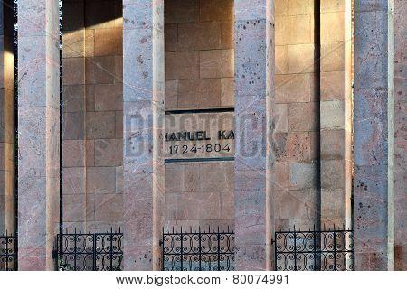 Tomb Of Immanuel Kant. Kaliningrad (formerly Koenigsberg), Russia