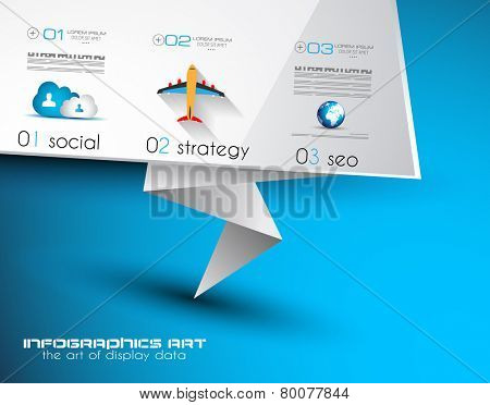 Origami Flat style flyer design or Brochure template for your business project.