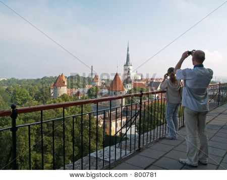 Photographers make pictures of Tallinn