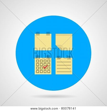 Flat vector icon for sticky note