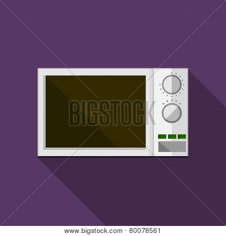 Flat vector icon for microwave