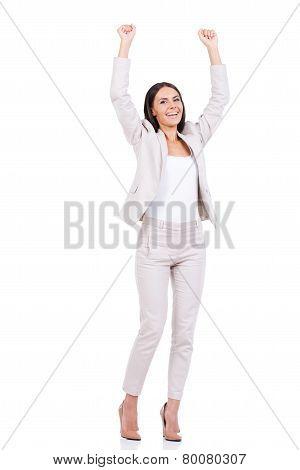 Happy Businesswoman.