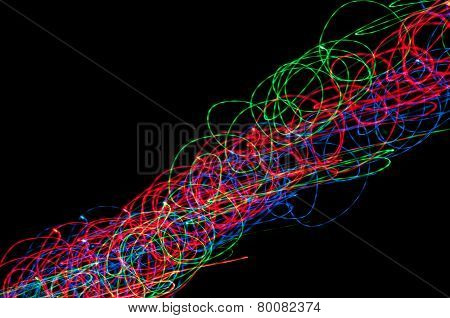 Abstraction Of Colored Lines