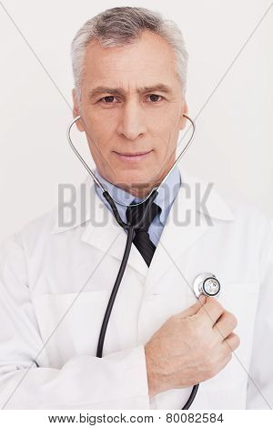 Doctor Examining Himself.
