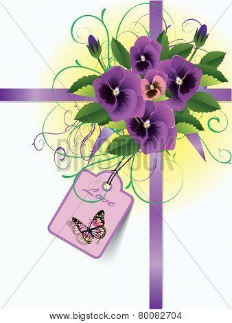 Illustration with floral frame decoration