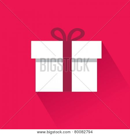 Flat icon gift. Vector Illustration.