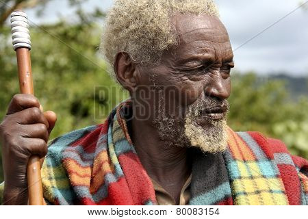 Portrait Of The African Old Man.