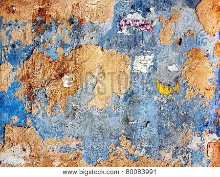 Old Colored Plaster Wall Texture.