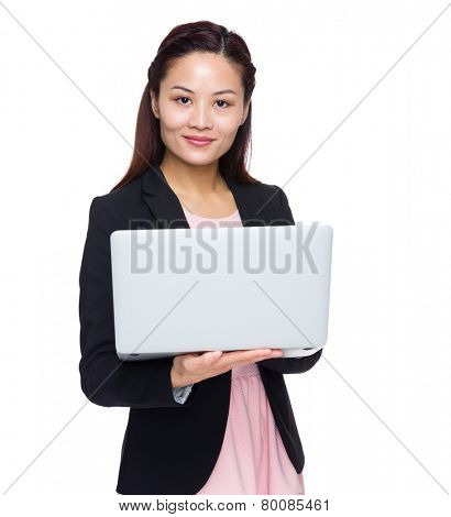 Asian Businesswoman use of laptop