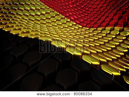 Belgian background theme - 3D render