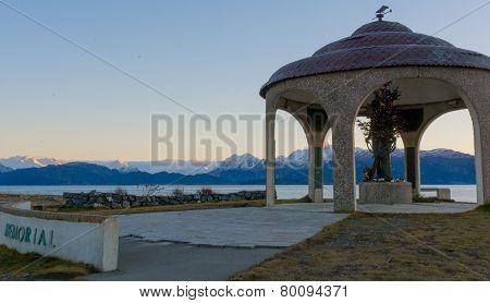 Seaman's Memorial In Winter