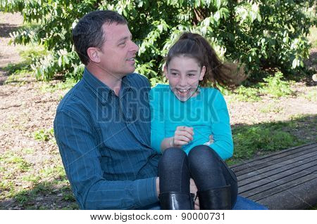 Nice Complicity Between A Father And His Daughter