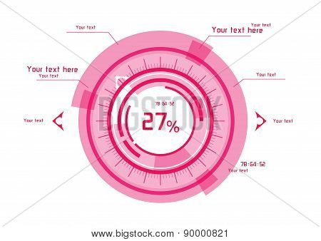 Pink Vector Elements On White Background