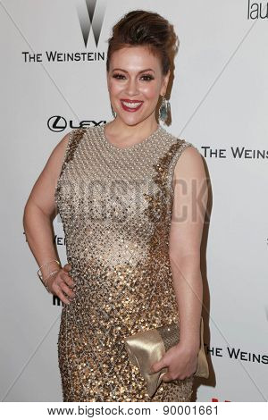 LOS ANGELES - JAN 11:  Alyssa Milano at the The Weinstein Company / Netflix Golden Globes After Party at a Beverly Hilton Adjacent on January 11, 2015 in Beverly Hills, CA