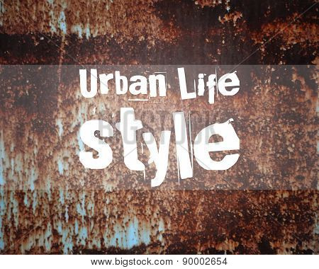 Urban abstract lifestyle poster and banner pattern design. Unusual rust grung vintage background. Tr