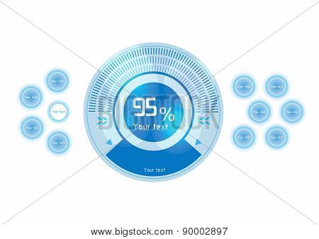 Blue Vector Design Elements On White Background