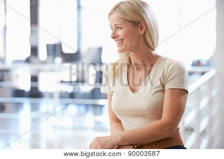 Portrait of woman in office smiling