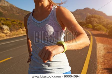 Cropped shot of woman running