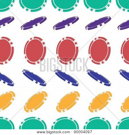 Seamless Pattern Of Empty Chips