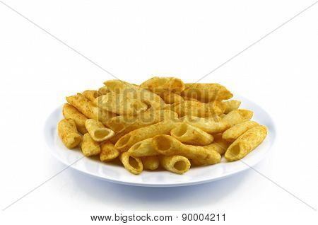 Potato Snack On Dish