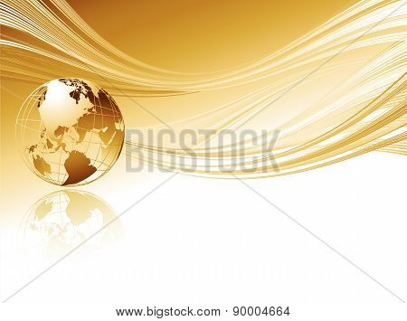Business elegant abstract background with globe.