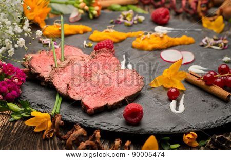 Juicy Beef Steak Slices