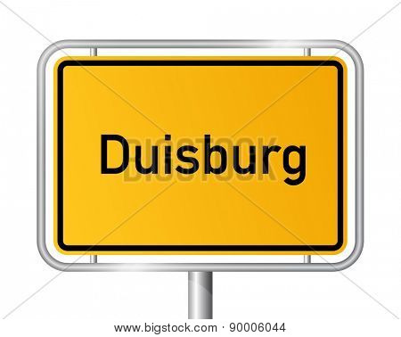 City limit sign Duisburg - signage - Germany