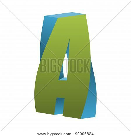 Twisted Letter A Logo Icon Design Template Element