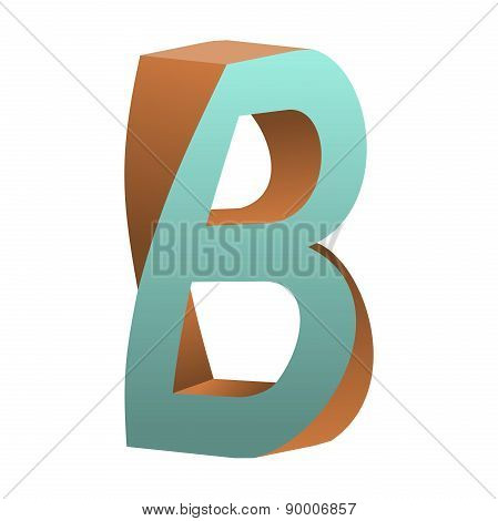 Twisted Letter B Logo Icon Design Template Element