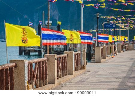 Thailand National Flag,phi Phi Island