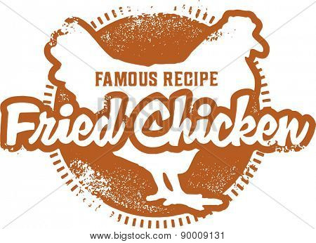 Fried Chicken Menu Stamp