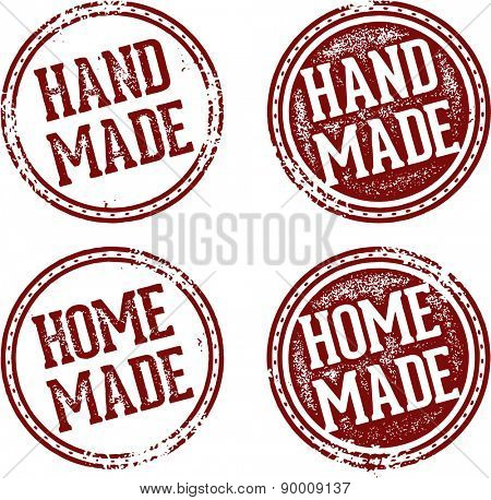 Home Made and Hand Made Product Stamps